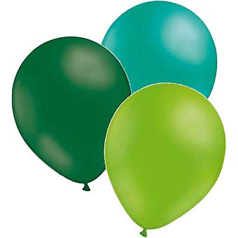 Balloons 24-pack-3 colors emerald green-Sea green-lime green