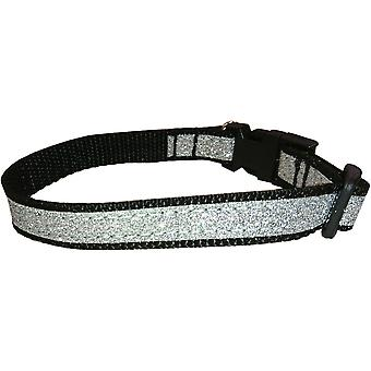 Dogcrafts Side Clip Dog Collar Sparkly Silver