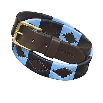Pampeano Leather Azules Polo Belt