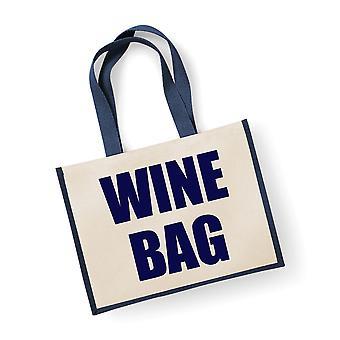 שק שקית יוטה גדול בשקית יין