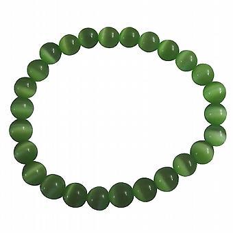 Alla moda bracciale estensibile 8mm citrino Cool Cat Eye perline braccialetto
