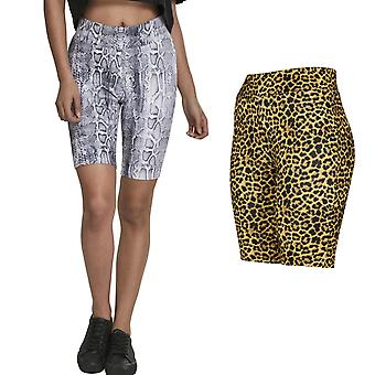 Urban Classics Ladies - CYCLE Stretch Shorts animal pattern