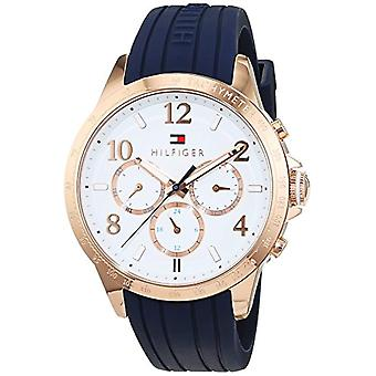 Ladies Tommy Hilfiger quartz 1781645 with multi display dial and leather strap.