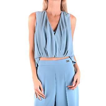 Elisabetta Franchi Ezbc050129 Naiset's Vaaleansininen Polyesteri Pusero