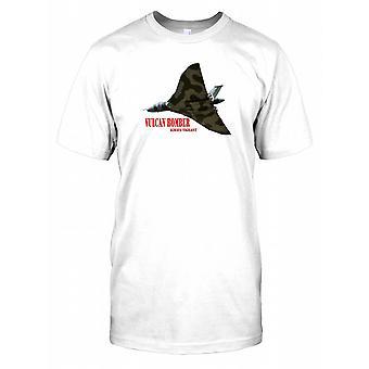 Royal Air Force Vulcan Bomber Poster Mens T Shirt
