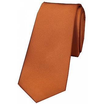 Дэвид ван Хаген равнина тонкого атласа галстук - медь