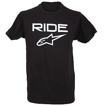 Alpinestars Mens T-Shirt ~ Ride 2.0 black/white