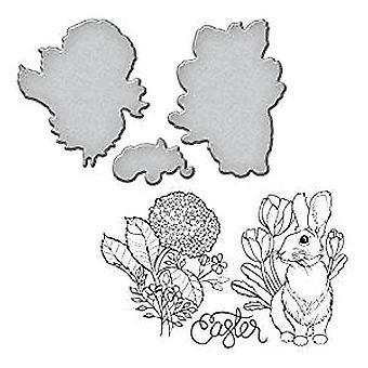 Spellbinders Bunny Stamp And Die Set