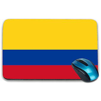 i-Tronixs - Colombia Flag Printed Design Non-Slip Rectangular Mouse Mat for Office / Home / Gaming - 0037