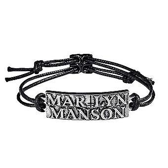 Marilyn Manson Logo Cord Armband (ro)