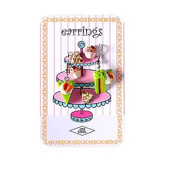 Heerlijke Patisseries Story Card oorbellen set