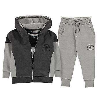 Firetrap Boys 3 Piece Jog Suit Set Infant Short Sleeve Crew Neck