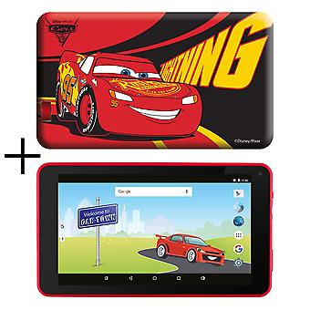 eSTAR 7inch HD Quad Core Kids Tablet & Cars Case mit Preloaded Games MID7388RC