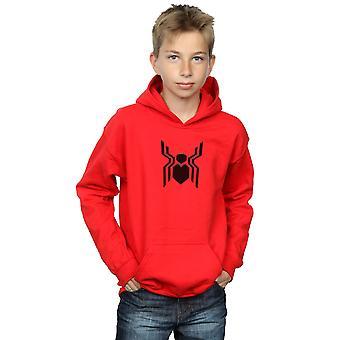 Marvel drenge spider-man langt fra hjem emblem hoodie