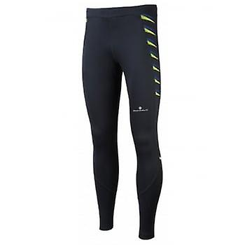 Ronhill Stretch Tight Black/fluo Yellow Mens