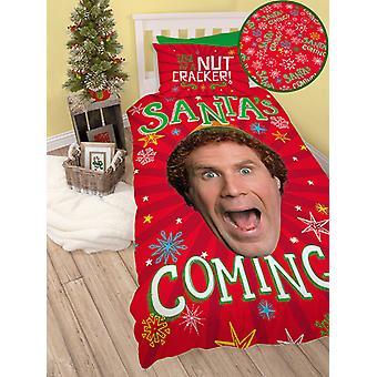 Kompis Elf Santa singel påslakan set