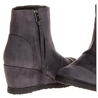 Sara Z Ladies Microsuede Wedge Boot