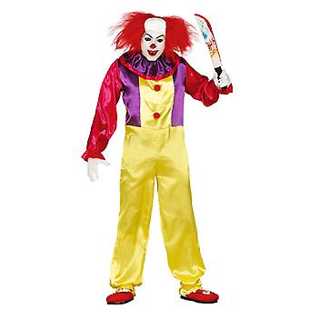Costume da clown Halloween Fancy Pagliao Colorato Da Uomo