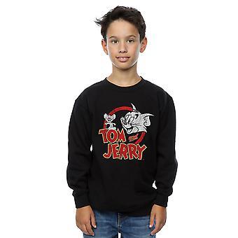 Tom und Jerry Jungen Beunruhigt Logo Sweatshirt