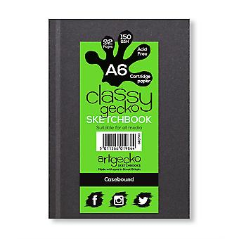 Artgecko Classy Gecko A6 muoto kuva Casebound Sketchbook