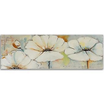 Painel do deco, panorama, duas flores e botão