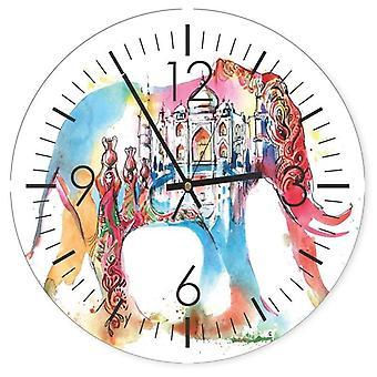 Reloj decorativo con imagen, color elefante