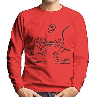 Grimmy Chasing Person Men's Sweatshirt