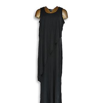 Lisa Rinna Collection Dress Sleeveless Double Layer Black A351835