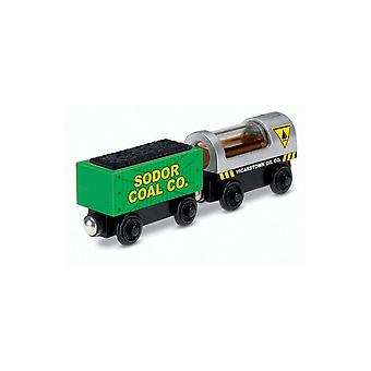 Fisher Price Thomas And Friends Coal & Oil Trucks - Wooden