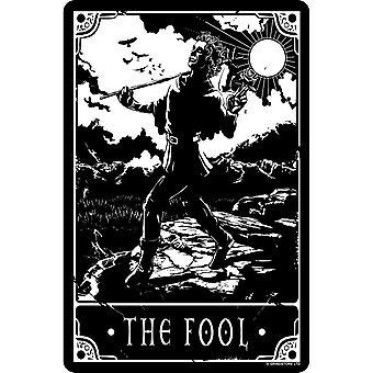 Deadly Tarot The Fool Tin Sign