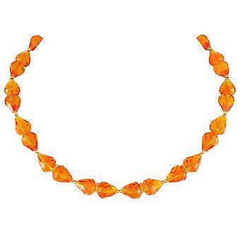 Eternal Collection raffinement Amber krystall gull tone halskjede
