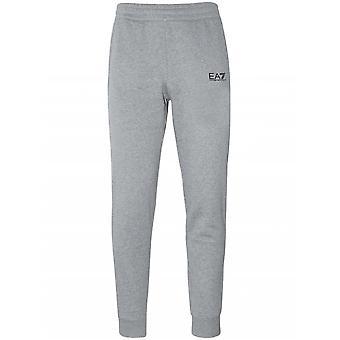 Pantalon de jog aux manchettes gris EA7