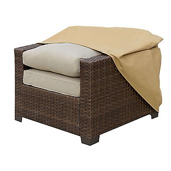 Osłona przeciwpyłowa z tkaniny na krzesła zewnętrzne, średnia, jasnobrązowa