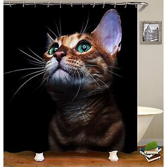 ゴージャスな猫のシャワーカーテン