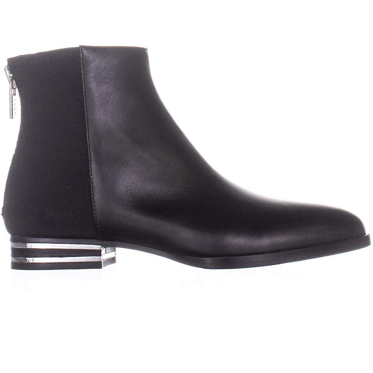 DKNY Womens Lacey Fabric Pointed Toe Ankle Fashion Boots