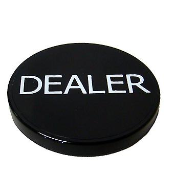 Negru dealer de plastic Button