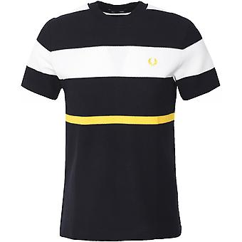 Fred Perry Honeycomb Pique Bold Stripe T-Shirt M7603 102