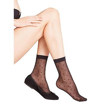 Falke Dot 15 Denier Anklet Tights - Black