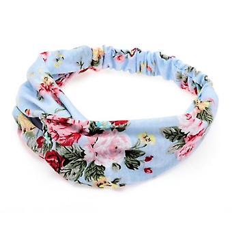Boolavard femmes bandeau Boho style floral Criss Cross Head Wrap bande de cheveux