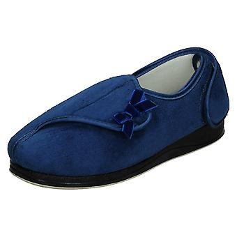 Ladies Padders Hook And Loop Comfort Slippers Penny