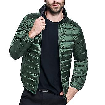 Allthemen Men's Thin Warm Down gepolsterte Jacke beide Seiten tragbar