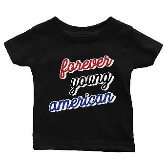365 painaminen ikuisesti nuori amerikkalainen vauva graafinen musta T-paita lahja vauva suihku