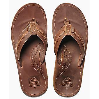 Sandales en cuir Reef Voyage Lux en brun/brun