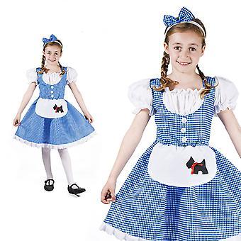 Traje de niño de Dorothy oz niña mago