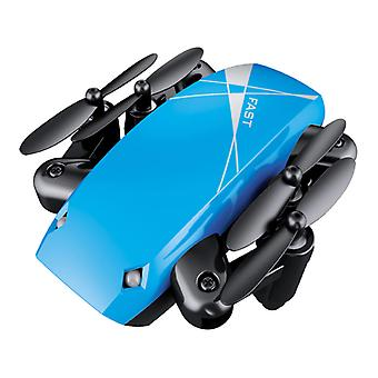 Stuff Certified ® S9W Mini RC Pocket Drone Quadcopter Toy with Gyro Stabilization Blue