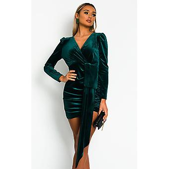 IKRUSH Womens Noelle Velvet Mini Dress