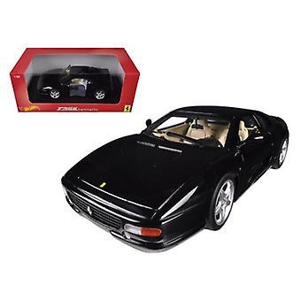 Ferrari F355 Berlinetta Coupe Black 1/18 Diecast Car Model By Hotwheels