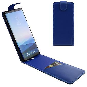 For Samsung Galaxy Note 8 Case,iCL Vertical Flip Genuine Leather Cover,Blue