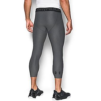 Under Armour Men's HeatGear Armour 2.0 Leggings, Carbon, Grey, Size Medium