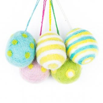 Felt So Good Hanging Easter Eggs Decorations | Gifts From Handpicked